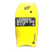 Bodyboard RIP Concept PE 38 (Jaune) + Housse