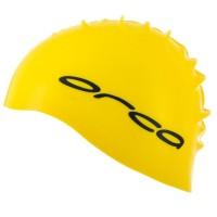 Bonnet de natation et de triathlon en silicone Orca (Jaune)