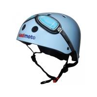 Casque Kiddi Moto Lunettes bleu