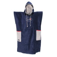 Poncho All-in Classic Bumpy (Navy/med Grey/red)