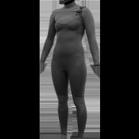 Combinaison Surf Femme Alder Reflex 5/4/3 Chest-Zip (Noire)