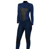Combinaison de surf femme Animal Lava 4/3 mm Dark Navy (FrontZip)