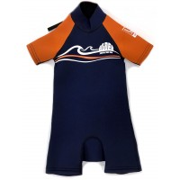 Shorty Alder Impact petit enfant 3/2 (Bleu/Orange)