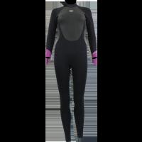 Combinaison de surf Femme Alder Stealth 5/4/3 (Noir/Mauve)