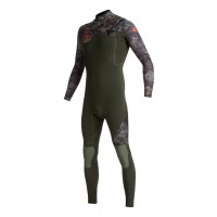 Combinaison de surf Quiksilver Syncro 5/4/3 mm GBS Front-Zip (Camouflage)