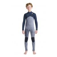 Combinaison de surf enfant C-Skins Session 5/4 mm Front-Zip (Tie Die)