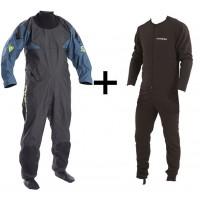 Combinaison étanche sèche Typhoon Hypercurve 3 Socks + sous-vêtement (Teal)