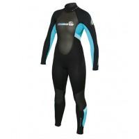 Combinaison de surf Femme C.Skins Element 3/2 mm (Noir/Turquoise)