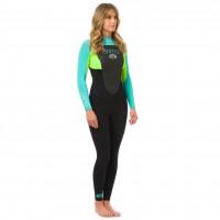 Combinaison de surf femme Animal Lava 3/2 mm
