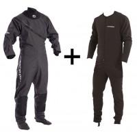 Combinaison sèche Typhoon Ezeedon 3 + sous-vêtement (Grise/Noir)