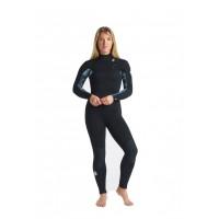 Combinaison femme C-skins Solace 5/4 mm Front Zip (Black/Tropical)