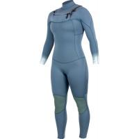 Combinaison de surf femme Alder Revo Mini-Zip 4/3 mm (cascade bleue)