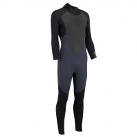 Combinaison de surf Animal Lava 4/3 mm Graphite (BackZip)