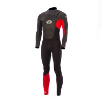 Combinaison de surf Animal Lava 5/4/3 mm Front-Zip (Rouge)