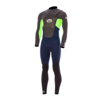 Combinaison de surf Animal Lava 5/4/3 mm Front-Zip (Verte)