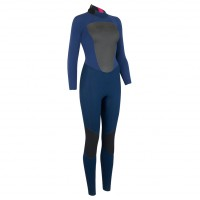 Combinaison de surf femme Animal Lava 4/3 mm Dark Navy (BackZip)