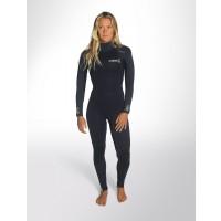 Combinaison de surf Femme C-Skins Surflite 4/3 mm (Bleu foncé)