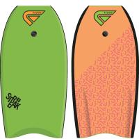 Bodyboard Flood Streak EPS 37 (Vert/Orange) + leash