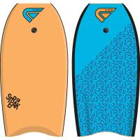 Bodyboard Flood Streak EPS 39 (Orange/Bleu) + leash