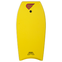 Bodyboard Flood Dynamx II EPS 44 (Yellow/Tribal) + leash