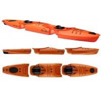 Kayak démontable Point 65 Martini GTX 1 et 2 places (Orange)