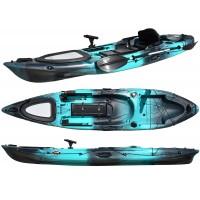 Kayak RTM Abaco 360 Standard Big Bang (+ Pagaie + Siège Hi-confort) (Couleur Steel : Turquoise et Noir)