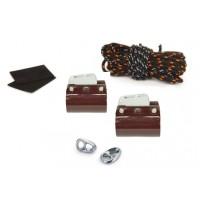 Kit d'étarquage Clam Kit Pro Nautix Clamcleat 36-37 (marron – pour IQFoil)