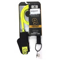 Leash de longboard Genoux Ocean & Earth Premium One Piece XT 9' (Jaune)