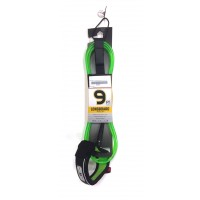 Leash de longboard Ocean & Earth Regular 9' Genoux (Vert)