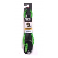 Leash de longboard Ocean & Earth Regular 9' Genoux (Vert/trans)