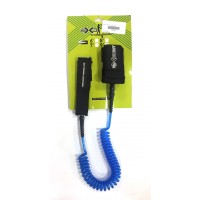 Leash de paddle téléphone 9' (8mm) Bleu