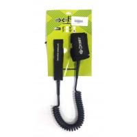 Leash de paddle téléphone 9' (8mm) Noir