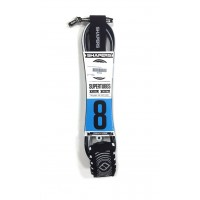 Leash de surf Shapers 8' (Noir/blanc)
