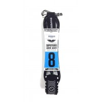 Leash de surf Shapers 8' (Noir)