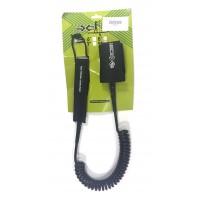 Leash téléphone de paddle 9' (8mm) Noir