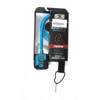 Leash de surf Ocean & Earth Premium One Piece XT 6' (Aqua)