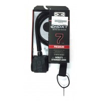 Leash de surf Ocean & Earth Premium One Piece XT 7' (Noir)
