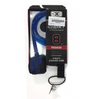 Leash de surf Ocean & Earth Premium One Piece XT 8' (Bleu)