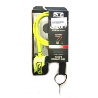 Leash de surf Ocean & Earth Premium One Piece XT 7' (Jaune)