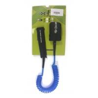 Leash téléphone de paddle 9' (8mm) Bleu