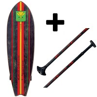"Pack Paddle Skate Kahuna Creations Shaka Kahili 46"" x 14"" + Big Stick Haka"