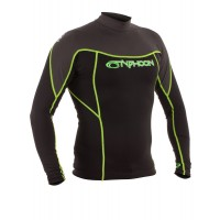 Lycra UV Typhoon manches longues (Black/Graphite/Lime)