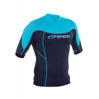 Lycra UV Typhoon manches courtes  (Navy/Cyan)