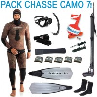 Pack complet chasse sous-marine camouflage 7mm