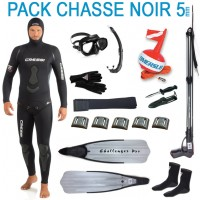 Pack complet chasse sous-marine noir 5mm