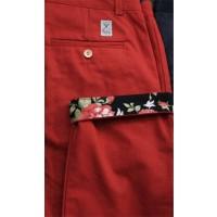 Pantalon Palam Cosmopolitain (Rouge et floral)