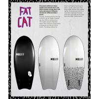 Planche de surf en mousse Mullet Fat Cat 4'8 (Jaune/Blanc)