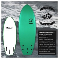Planche de surf en mousse Mullet The Nugget 4'6 (Blanc/Blanc)