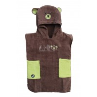 Poncho Baby Little Dragon (Brown/anis)