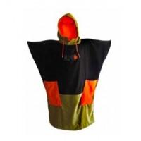 Poncho All-in V3 (Noir/orange/kaki)